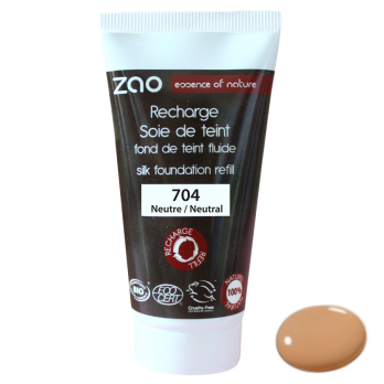 neutrale foundation ZAO hervulling Stam & Beauty duurzame make-up